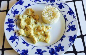 Pechugas de pollo al curry y piña-irecetasfaciles