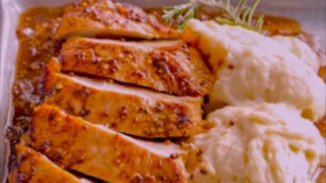 Pechugas de pollo con glaseado de naranja