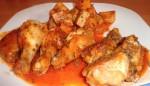 muslitos de pollo con salsa picante