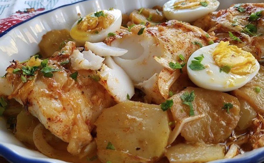 Bacalao al horno con patatas