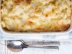 Macarrones con queso al horno