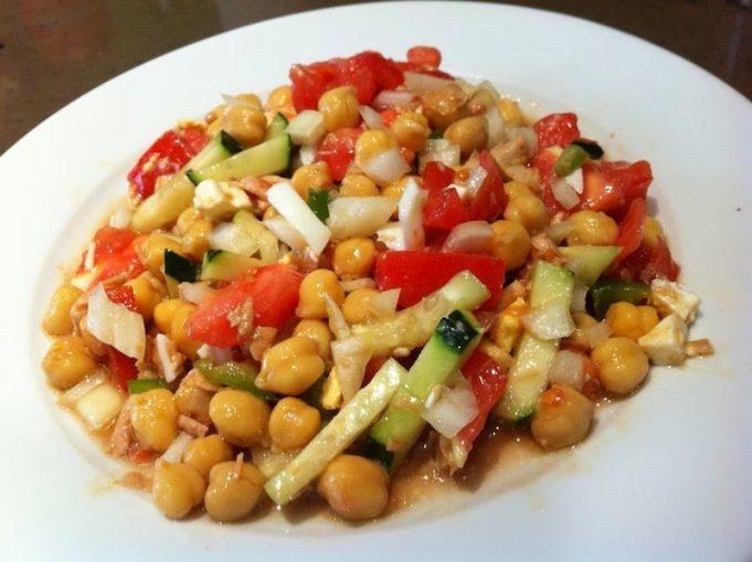 ensaladas con legumbres