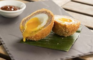 receta huevos escoceses con salmon o Scotch Eggs - Smoked salmon